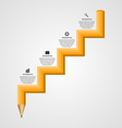Education pencil option Infographics in the form vector image vector image