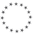 european union black icon vector image vector image