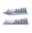 Flat megapolis panorama background vector image