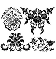 flower element set vector image vector image
