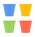 flower pots icon isolated vector image vector image