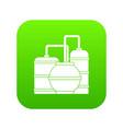 gas storage tanks icon digital green vector image vector image