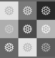 gear sign grayscale version of popart vector image vector image