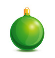 green christmas ball on a white background vector image