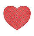 halftone textured heart vector image