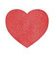 halftone textured heart vector image vector image