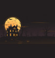 haunted house mansion halloween background vector image vector image