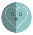 heart comic character icon vector image