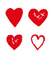 heart hand draw icon vector image vector image