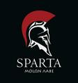 helmet ancient spartan warrior vector image