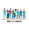 hospital consultation flat banner vector image