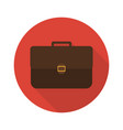 icon briefcase with shadow flat sign vector image