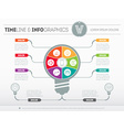 infographics Business concept with six options vector image