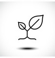leaves nature line icon vector image