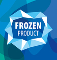 logo for frozen foods in form crystals vector image vector image