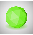 Low polygonal sphere vector image vector image