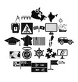 map icons set simple style vector image vector image