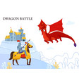 medieval tale dragon composition vector image