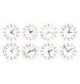 modern clock faces minimalist watch round clocks vector image