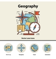 modern color thin line concept geography vector image