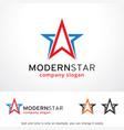 modern star logo template design vector image