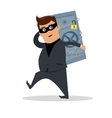 Money Stealing Concept Flat Design vector image vector image