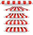 outdoor awnings red and white stripes vector image vector image