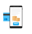 payments via credit card vector image vector image
