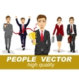 people with business characters vector image vector image