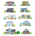 Real estate house building and cottage home icons