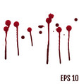 red ink stain blots and splashes isolated vector image