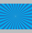 retro blue background ray blue background in pop vector image vector image