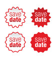 save date label sign vector image vector image