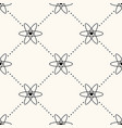 seamless pattern with heart icon in atom vector image vector image