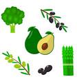 set of vegetables organic vegetarian healthy food vector image vector image