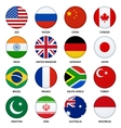 set round flags buttons - 1 vector image