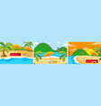 set summer beach background vector image
