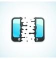 split mobile phone vector image vector image