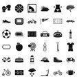 sport cycling icons set simple style vector image vector image
