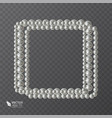 square frame of realistic pearls decoration for vector image vector image