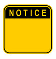 sticker notice safety sign vector image vector image