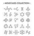 structure molecules in chemistry vector image