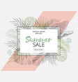 summer sale trendy tropical design hand draw vector image