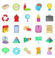 treasury icons set cartoon style vector image vector image