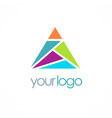 triangle colorful shape logo vector image vector image