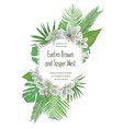 wedding floral invitation invite card vector image vector image