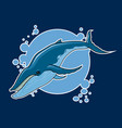 whale sticker vector image vector image