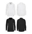 white and black shirt mockup set vector image