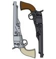 Wild West revolvers vector image vector image