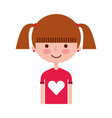 young girl avatar character vector image vector image